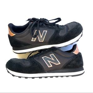New Balance Black & Rose Gold 311 Sneaker